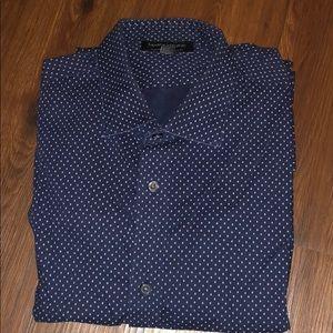 Long sleeve dress shirt woven